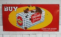 Tender Krust Bread (Lights in my hometown) Tags: old mountain sign vintage bread view brothers rusty sharp mo advertisement missouri bakery bros tender krust