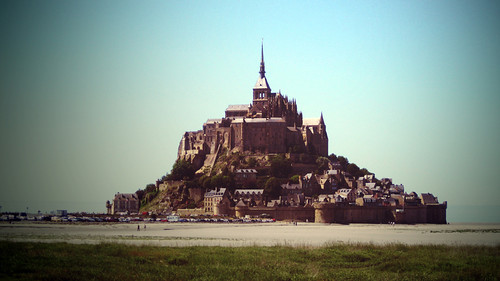 フリー写真素材, 建築・建造物, 教会・聖堂・モスク, モン・サン=ミシェル, 世界遺産, フランス,