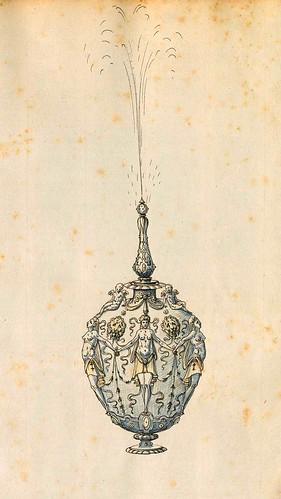 002-Botella de perfume o fuente de mesa-Entwürfe für Prunkgefäße in Silber mit Gold-BSB Cod.icon.  199 -1560–1565- Erasmus Hornick