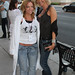 Indie film rebel actress Angela Tropea & film maker Sharon Wright arriving at the theater for a screening at Action on Film Festival 2010.