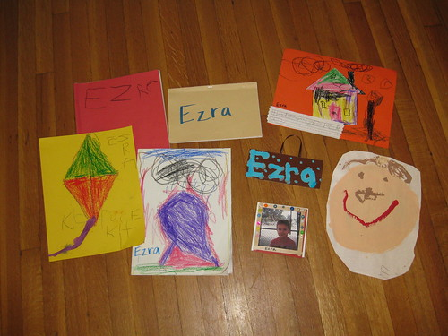 Ezra's Intro to Kindergarten work