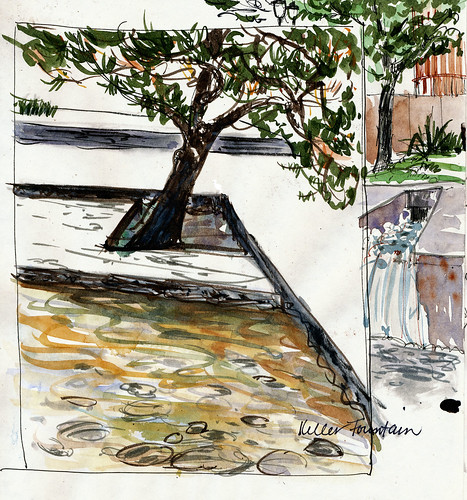PDX 2010: Keller fountain, two views