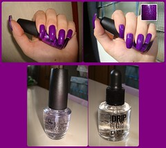 China Glaze - Flying Dragon (michelleorsatti) Tags: glitter purple nail polish nails roxo opi esmalte flyingdragon dripdry topcoat importado chinaglaze
