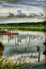 Ogni Volta...... (Mr. Umbex) Tags: trees sky sun water alberi clouds canon paint barca nuvole mare cielo sole acqua hdr riflesso comacchio volano lidodivolano vallidicomacchio canoneos1000d sigma50200dcoshsm