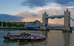 The Thames... (Mohamed Haykal) Tags: leica uk bridge london tower thames river boats dusk x1 haykal