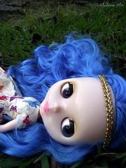 Selene descansando...depois de muitas fotos..rs