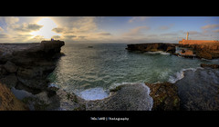Rabat Sunset Panorama (Feo David) Tags: ocean sunset sea sky panorama cliff mer lighthouse clouds canon eos soleil rocks view coucher du cliffs atlantic morroco maroc 5d falaise hdr afrique couch atlantique