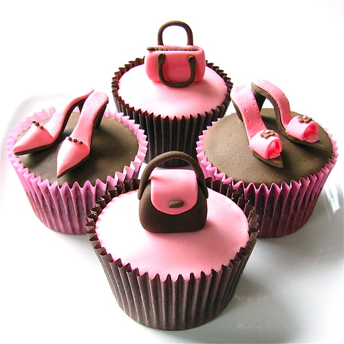 Handbags and Shoes Cupcakes
