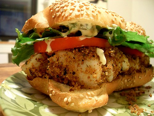 """Fried"" Cod Sandwich"