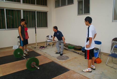 平井一正先生(モントリオールオリンピック銅メダリスト)に指導していただきました。