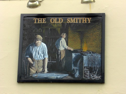 The Old Smithy Pub Sign Ivybridge
