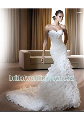 organza mermaid wedding dress