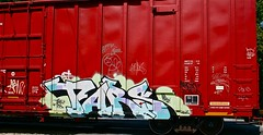 Tars (mightyquinninwky) Tags: railroad graffiti streak tag graf tracks railway tags tagged railcar rails boxcar ub graff graphiti streaks 2008 freight 08 0508 tars able trainart comos fr8 railart bigmikes applebee spraypaintart monikers moniker reflectivetape freightcar movingart hkk hews corkscrewjohnny hkr aacrew tarsone taggedboxcar paintedboxcar paintedrailcar taggedrailcar