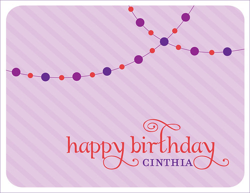 Happy Birthday, Cinthia!