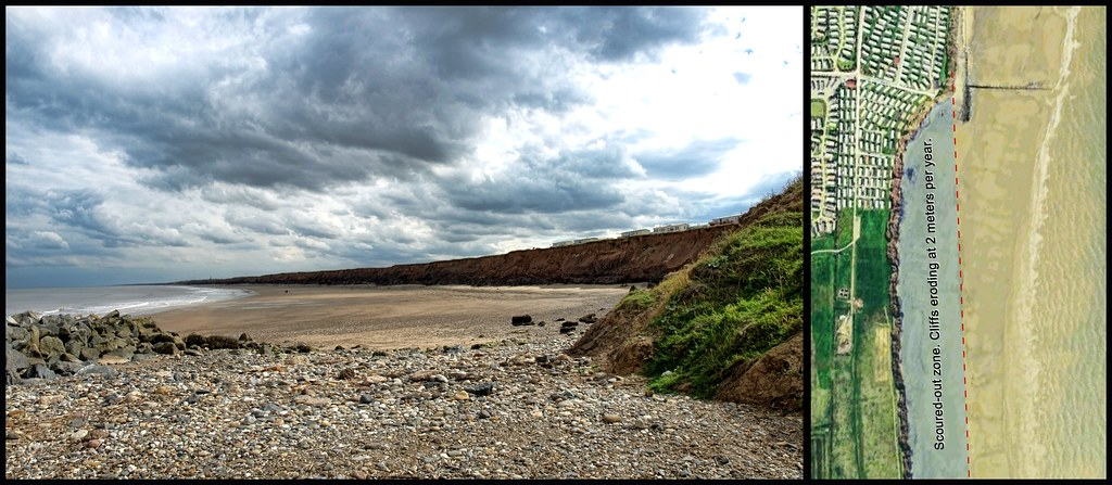 Heavy erosion, South Beach, Hornsea P7313564 pan diagram