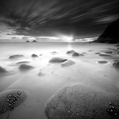 Sunburst (Scott Howse) Tags: longexposure sunset sea england sky blackandwhite bw cloud water monochrome coast rocks cornwall lee sunburst filters graduated stjust penwith cotvalley nanven thebrisons portnanven 09h