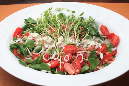 BLT Salad with Blue Cheese Dressing - Sass & Veracity