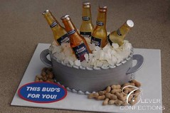 Bud Beer Tub (Clever Confections) Tags: wedding ice cakes sports beer cake silver golf groom cupcakes wooden bucket bottles barrel peanuts towel sugar tub glove dust custom grooms handles clever luster pail confections beerbottles fondant weddingcakes sugarice noveltycakes groomscakes sugarbottles cleverconfections cleverconfectionscom