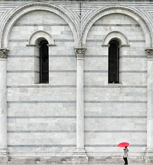 walking on the edge (Philipp Klinger Photography) Tags: travel italien red people italy woman white tower window girl lines rain architecture umbrella walking person nikon italia arch torre coat pillar arches line pisa edge tuscany marble toscana turm philipp battistero leaning leaningtower baptisterio baptistery toskana torrependente baptisterium klinger schieferturmvonpisa pendente schiefer emsiye nikon70300mmvr d700 walkingontheedge dcdead