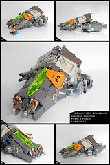 Coalition Gunship (Pierre E Fieschi) Tags: ship lego pierre space spaceship starship gunship starfighter fieschi coaltion