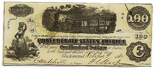 Confederate $100 Train Note T40