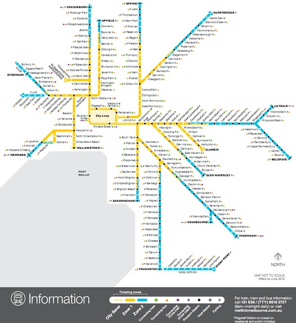 Train map showing committed Host/Premium stations