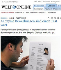 Duitsland experimenteert met anoniem solliciteren