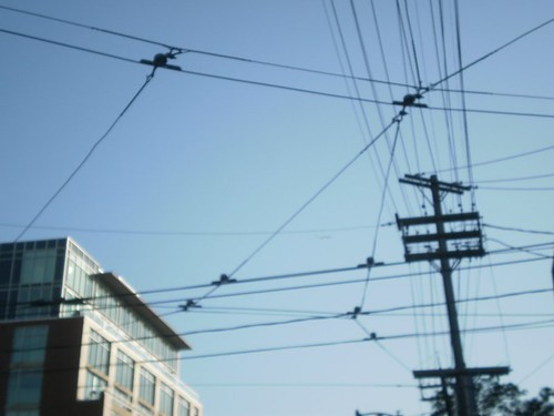 Streetcar wires overhead (1)