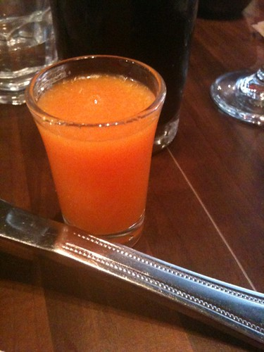 Fresh, juicy shooter at La Cantine