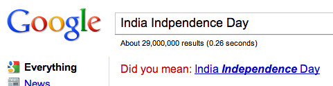 Google India Independence Day