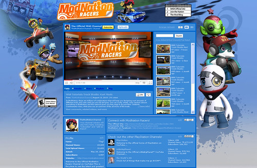 ModNation Racers for PS3: YouTube channel