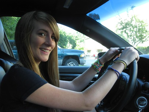 Lisa behind the Wheel
