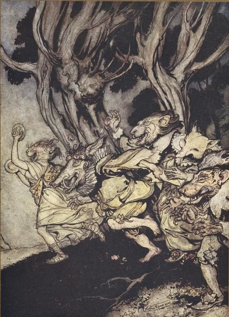 Rackham, illus. for Comus (1921)