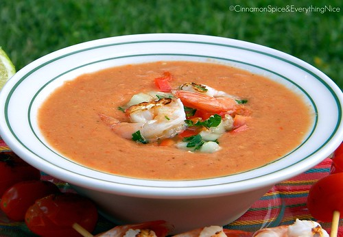 Gazpacho with Lime Chicken