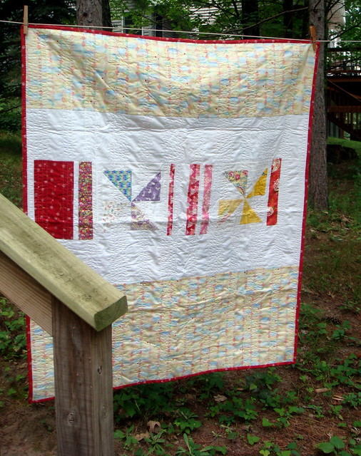 Another Pinwheel Quilt - Backside