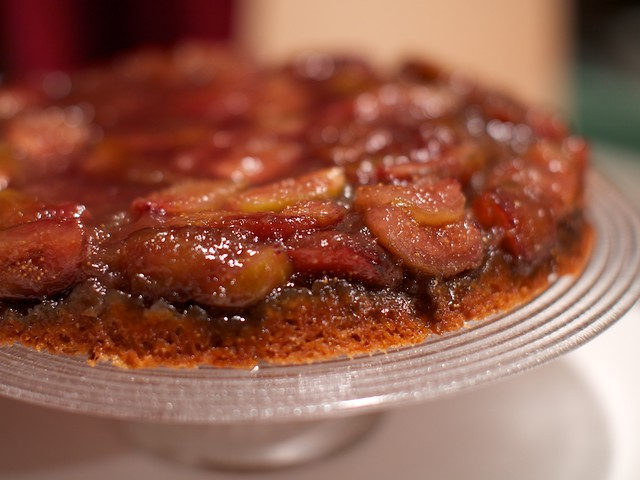 vegan fig upside down cake