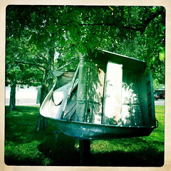 Tornado Boat (Emily Bemily) Tags: cameraphone boat with an smartphone mobilephone tornado siren apps iphone rose taken iphone4 emily takenwithaniphone iphonography iphone iphoneography iphoneographer hipstamatic bemily