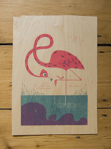 Flamingo & Friend - Amazing Fundraising Art Raffle!!