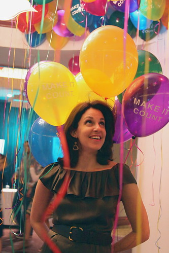 Pam and the Balloons - BlogHer 2010