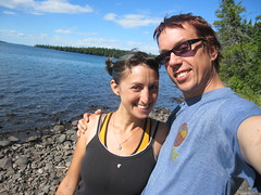 Chad and Shayna in Isle Royale National Park