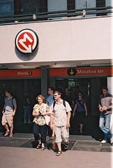 Moskva Ter.2 (-Alec-) Tags: people station hungary 2000 fuji metro superia budapest 400 vivitar moskva ter xtra