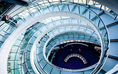 City Hall Central Stairway (F/H) Tags: city people house london architecture stairs spiral hall day open stairway staircase unusual dizzy circular swirling descending dizziness twisting spiraling