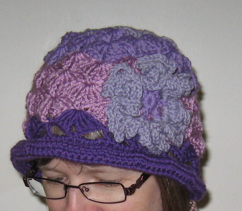 Rachael's purple hat
