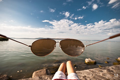 POV Summertime (mmmt) Tags: blue summer sky lake clouds nikon angle pov wide summertime nikkor balaton 12244 d40x