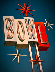 Premiere Lanes (TooMuchFire) Tags: signs stars typography neon bowl 1950s bowling googie santafesprings neonsigns midcentury oldsigns vintagesigns bowlingalleys googiesigns oldneonsigns bowlingalleysigns premierelanes bowlingsigns