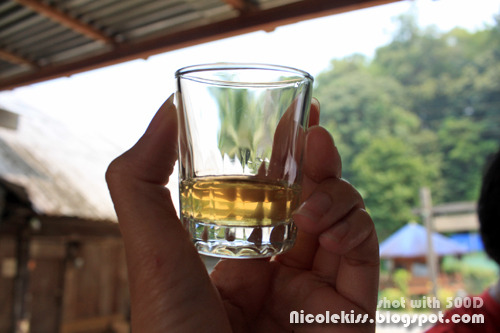 drinking rice wine