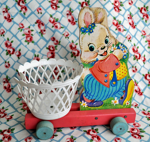 Vintage Fisher Price Bunny Pull Along