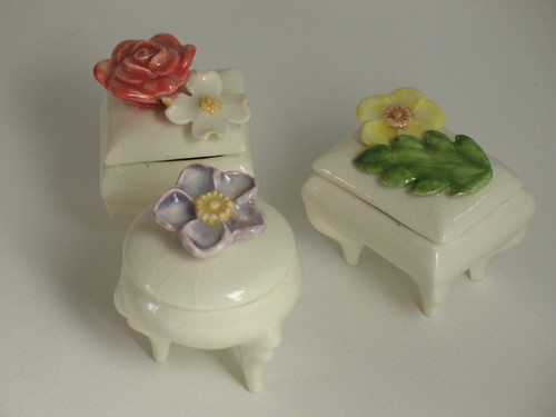 Pill boxes with flowers
