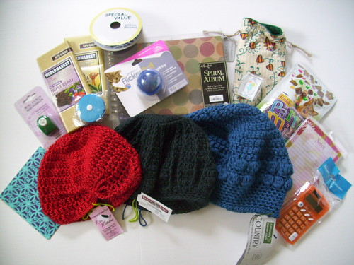 My swap package from Hat from Swap, made by NolaHooksNBooks