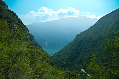 View from Alp while climbing